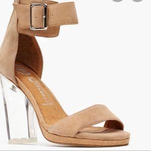 Jeffrey Campbell Soirée heels in 7 taupe